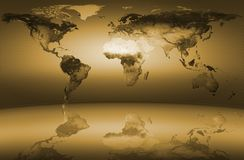 World Map Yellow Stock Photography