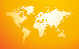 World map yellow background Royalty Free Stock Photos
