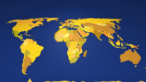 World map zooming in on South America Royalty Free Stock Photo