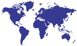 World Map07. 8-bit RGB flat JPEG file, 3340x2014 pixels (11.13x6.71 inches) @ 300.00 pixels/inch, written by Adobe Photoshop 6.0 Royalty Free Stock Images