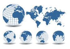World maps Royalty Free Stock Photos