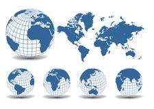 World maps Royalty Free Stock Photos