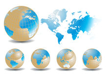 World maps Royalty Free Stock Photography