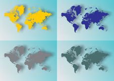 World maps Stock Image