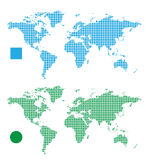 World Maps abstract rectangle and dot texture. Stock Photos