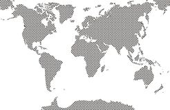 World maps filled dot cow pattern stock photos