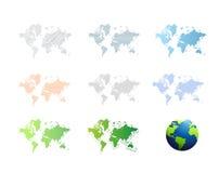 world maps icon set illustration design Royalty Free Stock Photo