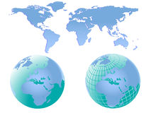 World Maps Illustration Stock Images