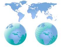 World Maps Illustration Stock Images