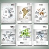 World maps, infographic design Royalty Free Stock Images