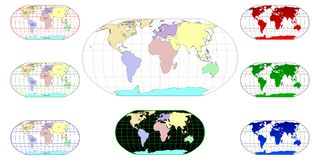 World maps 1 Royalty Free Stock Photo