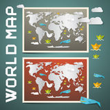 World Maps Set Royalty Free Stock Image
