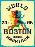 World marathon series retro poster. Royalty Free Stock Photos
