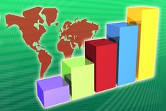 World Market Economy Growth and Increase Royalty Free Stock Image