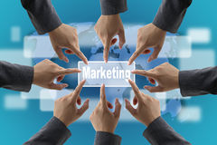 World marketing team Stock Images