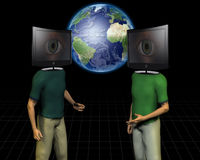 World media talk Stock Image