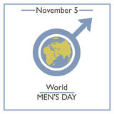 World Men's Day. November 5 Stock Photo