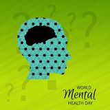 World Mental Health Day. Illustration of a World Mental Health Day Background royalty free illustration