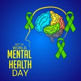 World Mental Health Day. Illustration of a Banner for World Mental Health Day Stock Photo