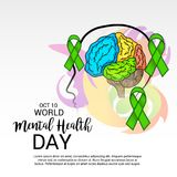 World Mental Health Day. Illustration of a Banner for World Mental Health Day Royalty Free Stock Photos