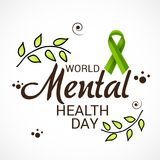 World Mental Health Day. Illustration of a Banner for World Mental Health Day Royalty Free Stock Image
