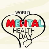 World Mental Health Day. Illustration of a Banner for World Mental Health Day Royalty Free Stock Photo