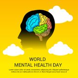 World Mental Health Day. Illustration of a Banner for World Mental Health Day Stock Photography
