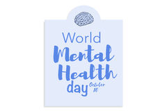 World Mental Health Day, October 10. A World Mental Health Day, October 10 Stock Photography