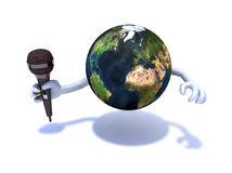 World with a microphone Royalty Free Stock Photography