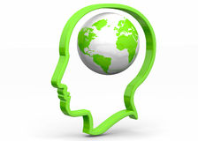 World in the Mind - 3D Stock Image