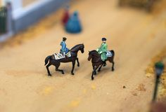 Soldiers on horseback. Royalty Free Stock Photography