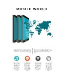 World mobile design Royalty Free Stock Photos