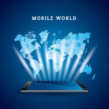 World mobile design Royalty Free Stock Photography