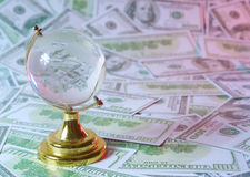 The world of money Stock Photos