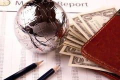 World and Money Stock Image