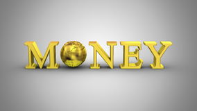 World Money Animation. Gray background, 2 in 1, loop 151-450 frames, created in 4K, alpha matte, 3d animation stock video footage