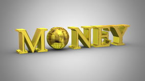 World Money Animation. Gray background, 2 in 1, loop 151-450 frames, created in 4K, alpha matte, 3d animation stock footage