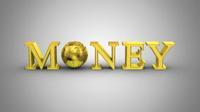 World Money Animation. Gray background, 2 in 1, loop 151-450 frames, created in 4K, alpha matte, 3d animation stock video