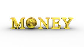World Money Animation. White background, 2 in 1, loop 151-450 frames, created in 4K, alpha matte, 3d animation stock footage