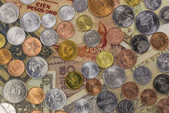 World Money Collection. A collection of coins and notes from around the world Stock Photo