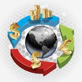 World money exchange background Royalty Free Stock Photo