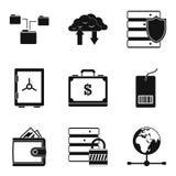 World money icons set, simple style. World money icons set. Simple set of 9 world money vector icons for web isolated on white background Royalty Free Stock Photography