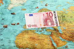 World money , World map , Money transfer Royalty Free Stock Photography