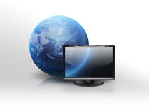 The world through the monitor Royalty Free Stock Image