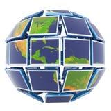 World at monitors Stock Image