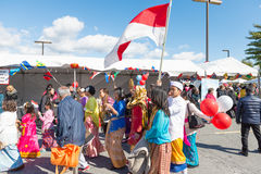 World of Montgomery  2015 Festival. Maryland, USA - Oct.18,2015: Parade of  Cultures at the 7th Annual World of Montgomery 2015 Festival Stock Image