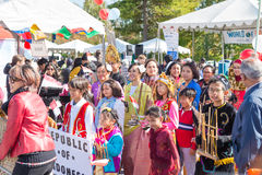World of Montgomery  2015 Festival. Maryland, USA - Oct.18,2015: Parade of  Cultures at the 7th Annual World of Montgomery 2015 Festival Stock Images