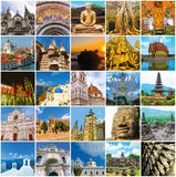 World Monuments Collage Stock Image