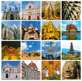 World Monuments Collage Royalty Free Stock Photo