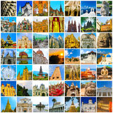 World Monuments Collage Stock Images